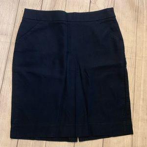 J. Crew Size 14 Navy Blue Pencil Skirt